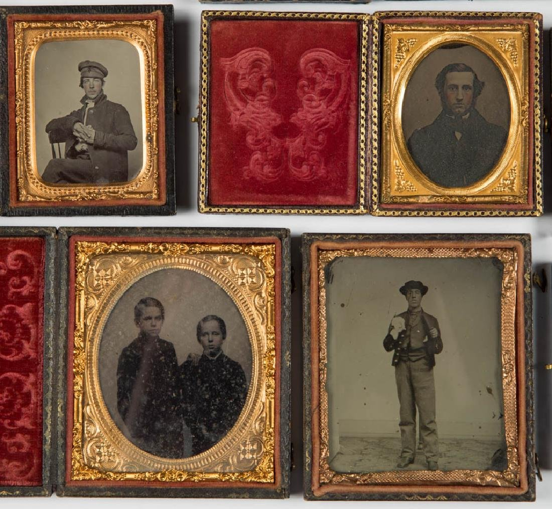 ASSORTED CASED PHOTOGRAPHIC IMAGES, LOT OF 12 - 3