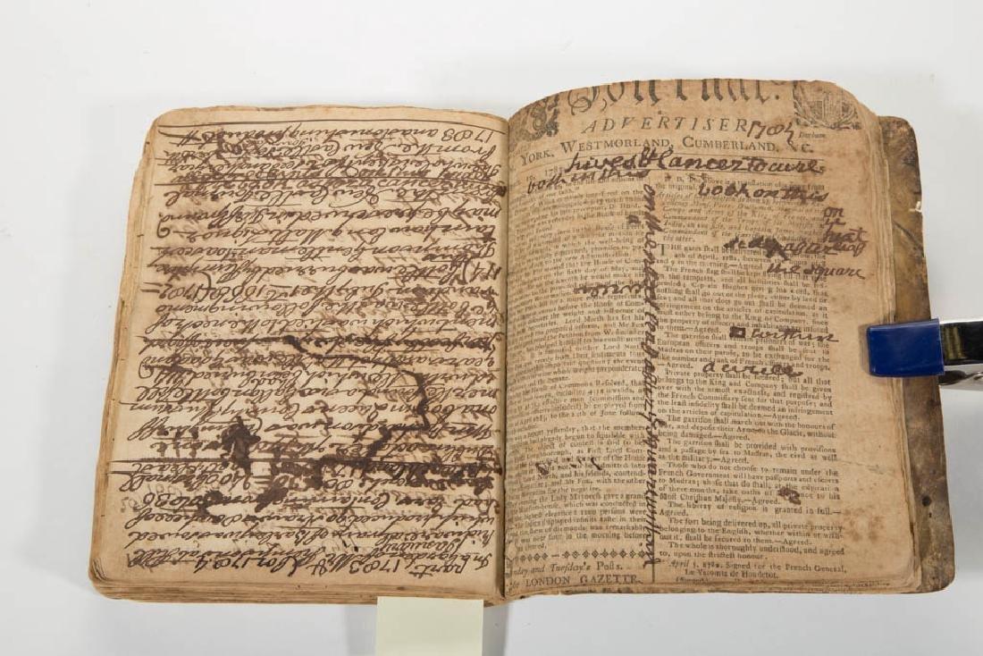 ENGLISH 18TH CENTURY MANUSCRIPT COPY BOOK