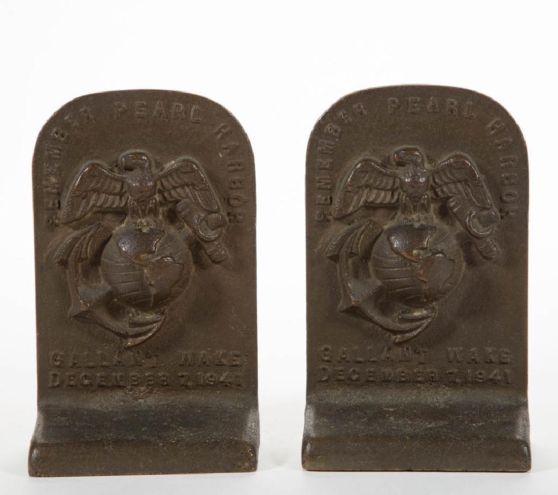 PEARL HARBOR MEMORIAL PAIR OF BRONZE / BELL METAL