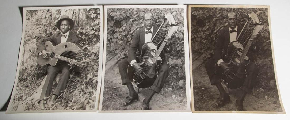 AFRICAN-AMERICAN MUSICIAN PHOTOS, LOT OF TWO