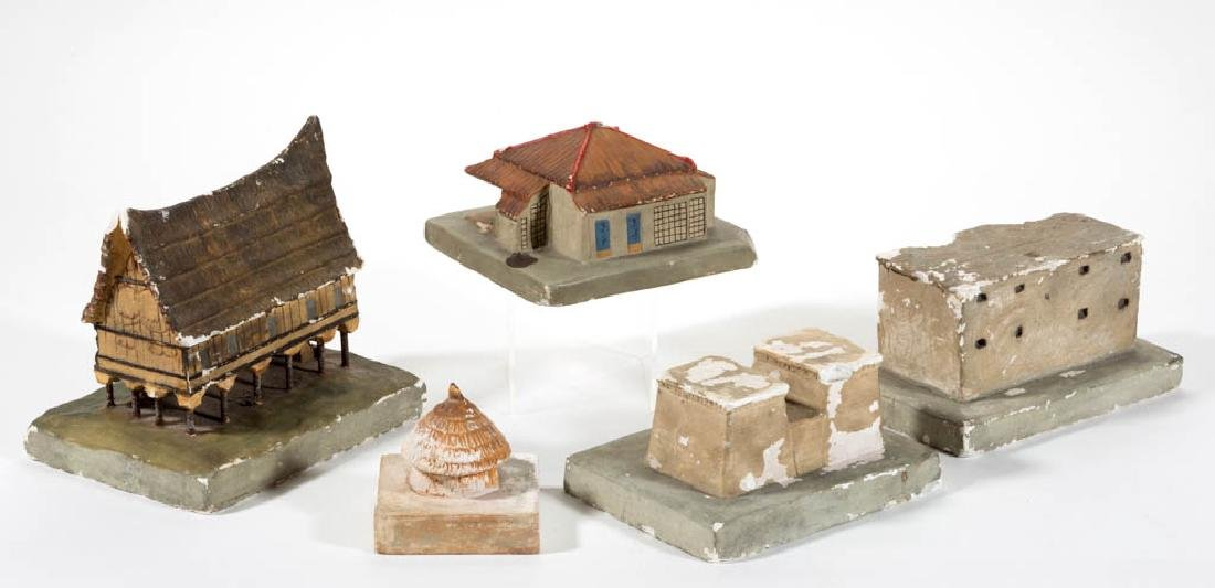 ASSORTED WPA PLASTER BUILDING MODELS, LOT OF FIVE - 2