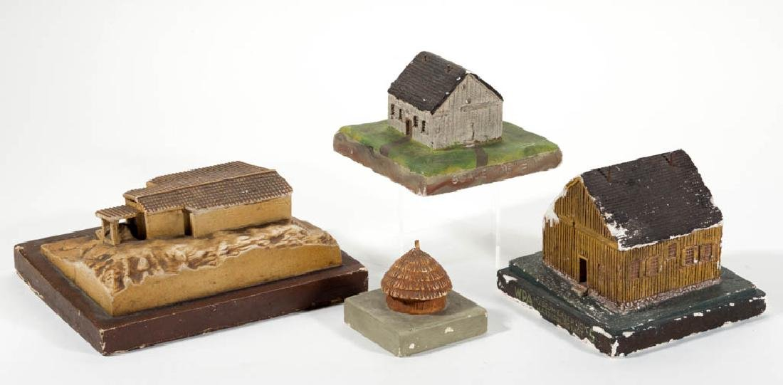 ASSORTED WPA PLASTER BUILDING MODELS, LOT OF FOUR - 2