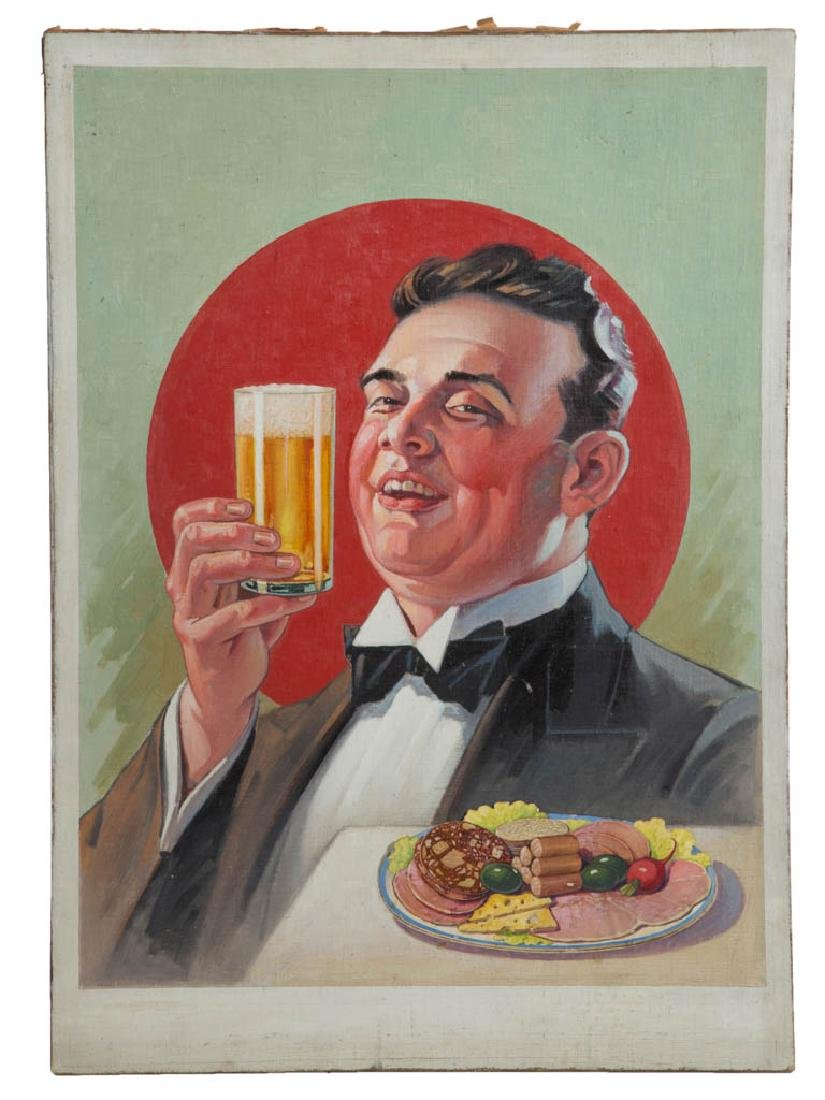 WILLIAM H. LISTER (AMERICAN, B.1866) BEER ADVERTISING