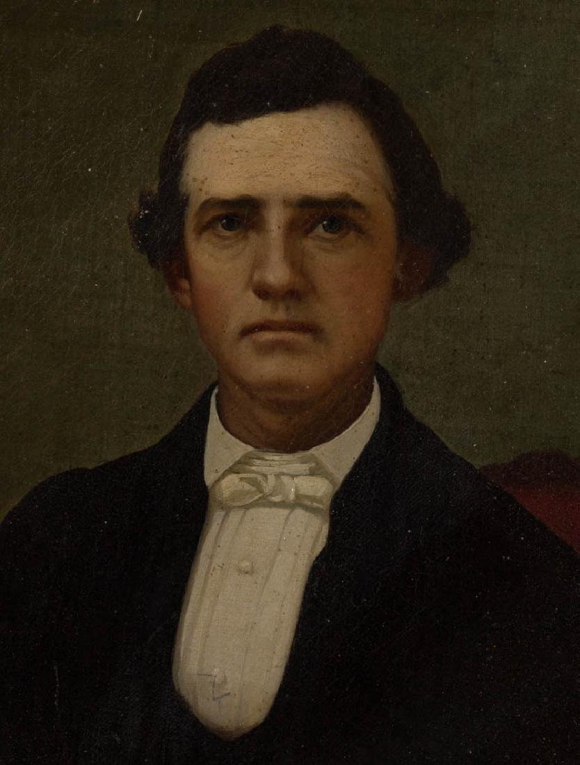 AMERICAN SCHOOL (19TH CENTURY) PORTRAIT OF A MAN - 2