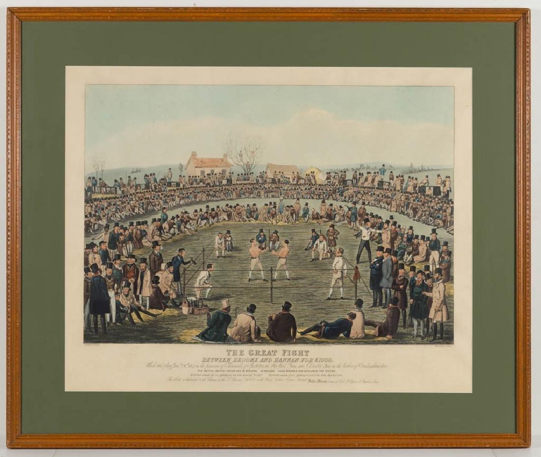 CHARLES HUNT (BRITISH, 1803-1877) BOXING PRINT