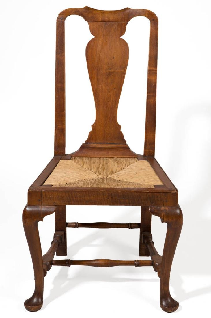 NEW ENGLAND MAPLE QUEEN ANNE SIDE CHAIR