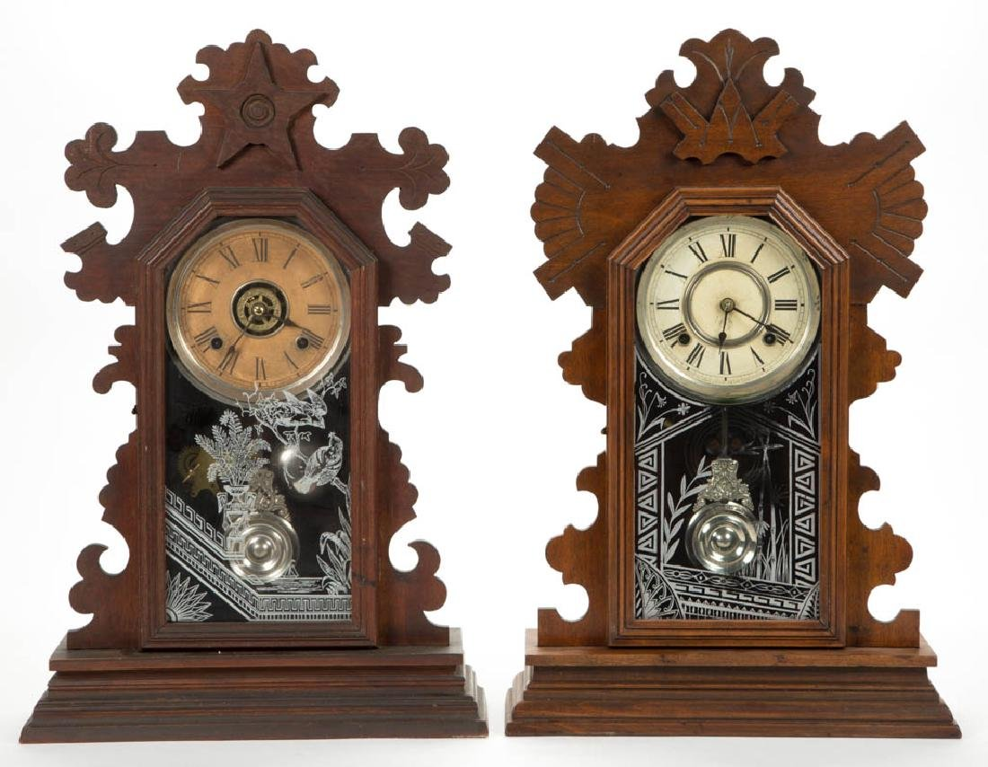 ANSONIA KITCHEN SHELF CLOCKS, LOT OF TWO