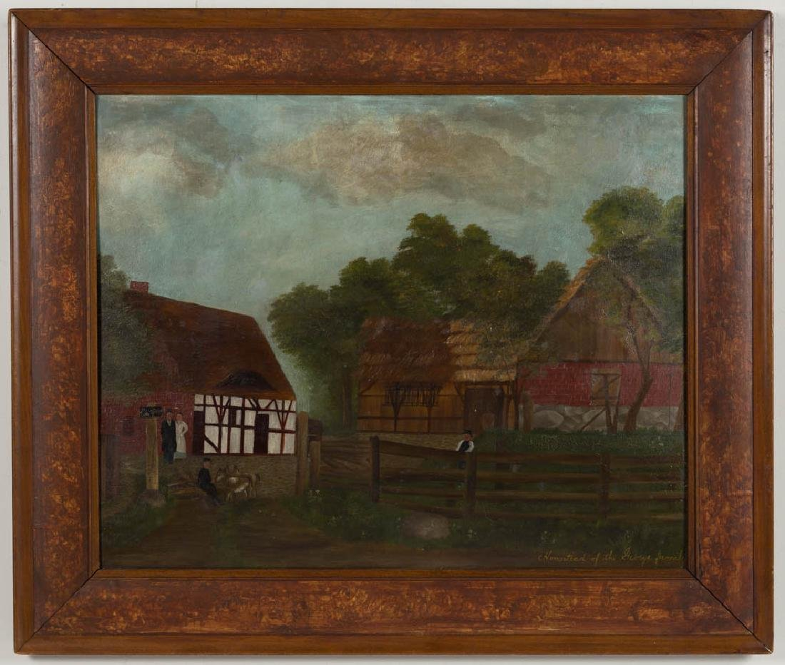 AMERICAN OR BRITISH SCHOOL (19TH CENTURY) FOLK ART FARM