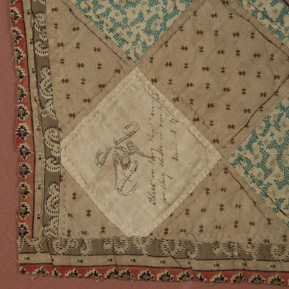 NEW JERSEY INSCRIBED PIECED QUILT FRAGMENTS - 3