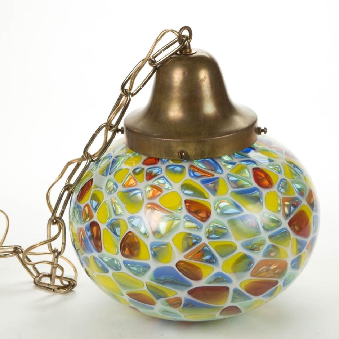 FREE-BLOWN ART GLASS PENDANT HANGING ELECTRIC HALL