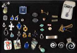 ASSORTED STERLING SILVER COSTUME JEWELRY AND OTHER