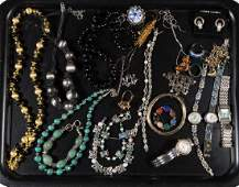 ASSORTED STERLING SILVER AND OTHER COSTUME JEWELRY