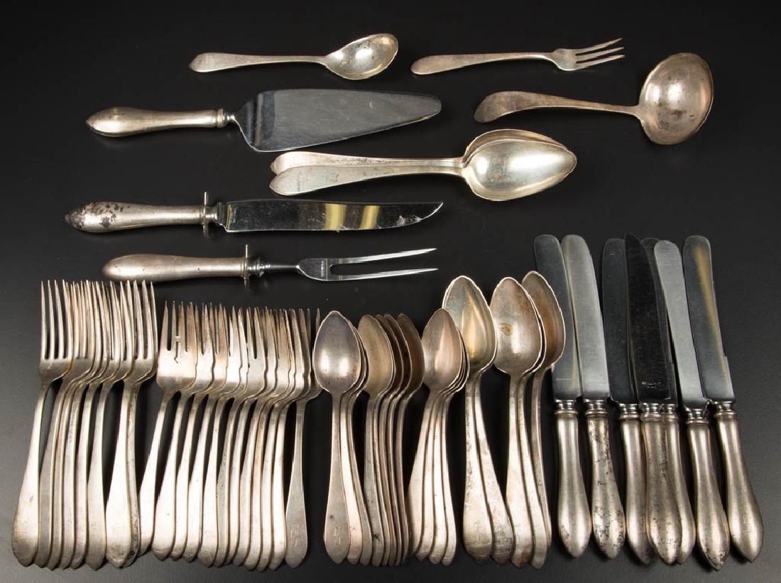 DOMINICK & HAFF STERLING SILVER FLATWARE SET, 53 PIECES