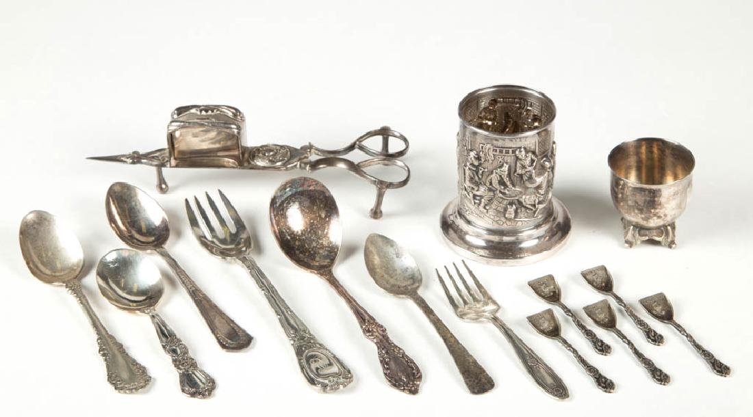 ASSORTED SILVER-PLATE FLATWARE AND TABLE ARTICLES, LOT