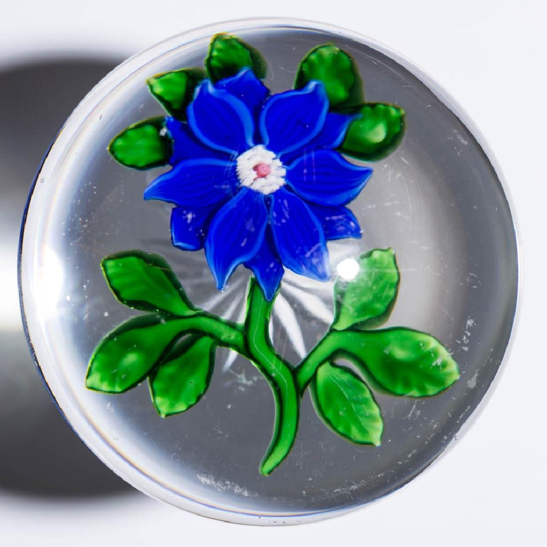 ANTIQUE BACCARAT CLEMATIS PAPERWEIGHT