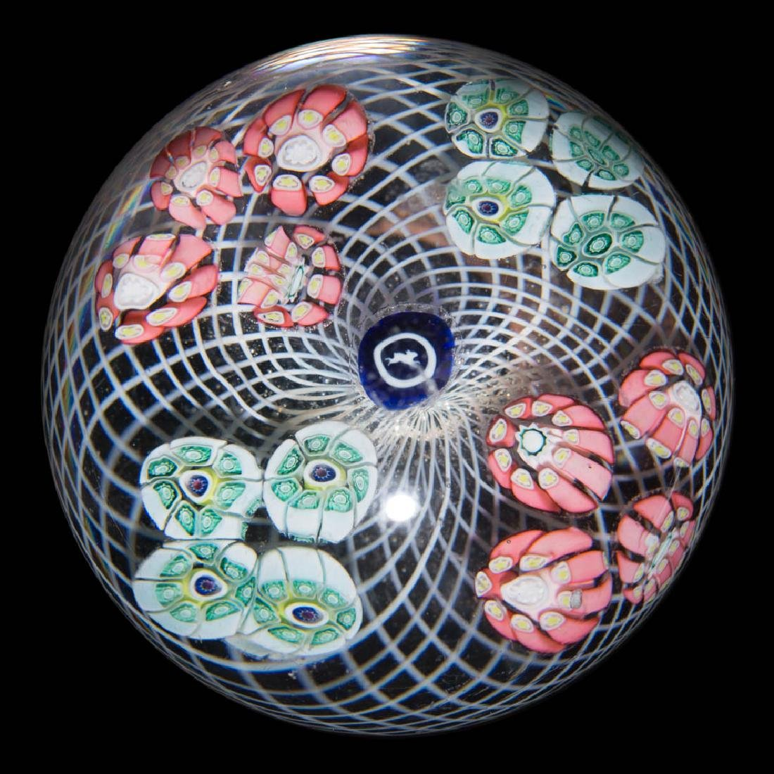 ANTIQUE NEW ENGLAND GLASS CO. MILLEFIORI PAPERWEIGHT