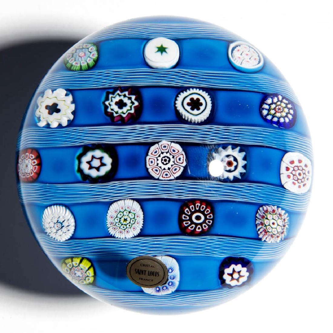 CONTEMPORARY ST. LOUIS MILLEFIORI PAPERWEIGHT