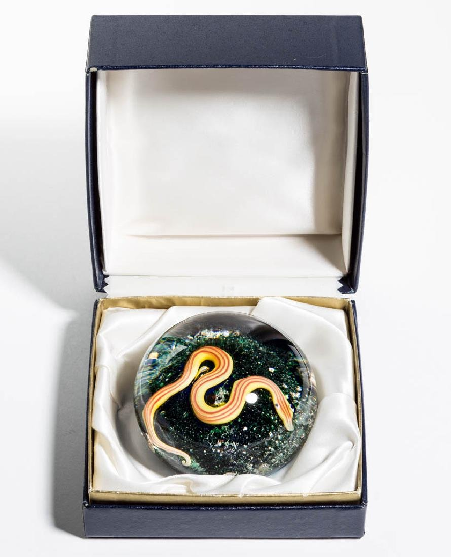 CONTEMPORARY BACCARAT SNAKE LAMPWORK PAPERWEIGHT