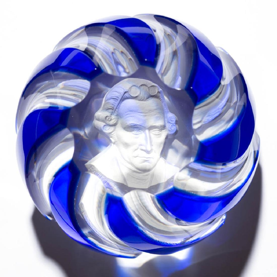 CONTEMPORARY BACCARAT PATRICK HENRY SULPHIDE OVERLAY