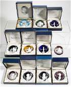 CONTEMPORARY BACCARAT FACETED SULPHIDE PAPERWEIGHTS,