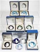 CONTEMPORARY BACCARAT SULPHIDE PAPERWEIGHTS, LOT OF TEN