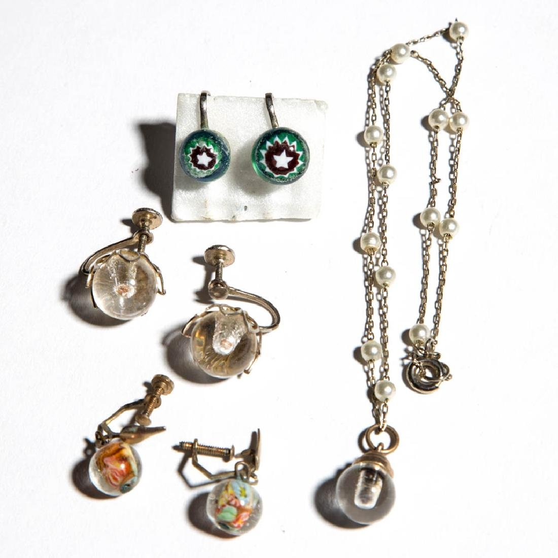 ASSORTED PAPERWEIGHT EARRINGS, LOT OF SIX