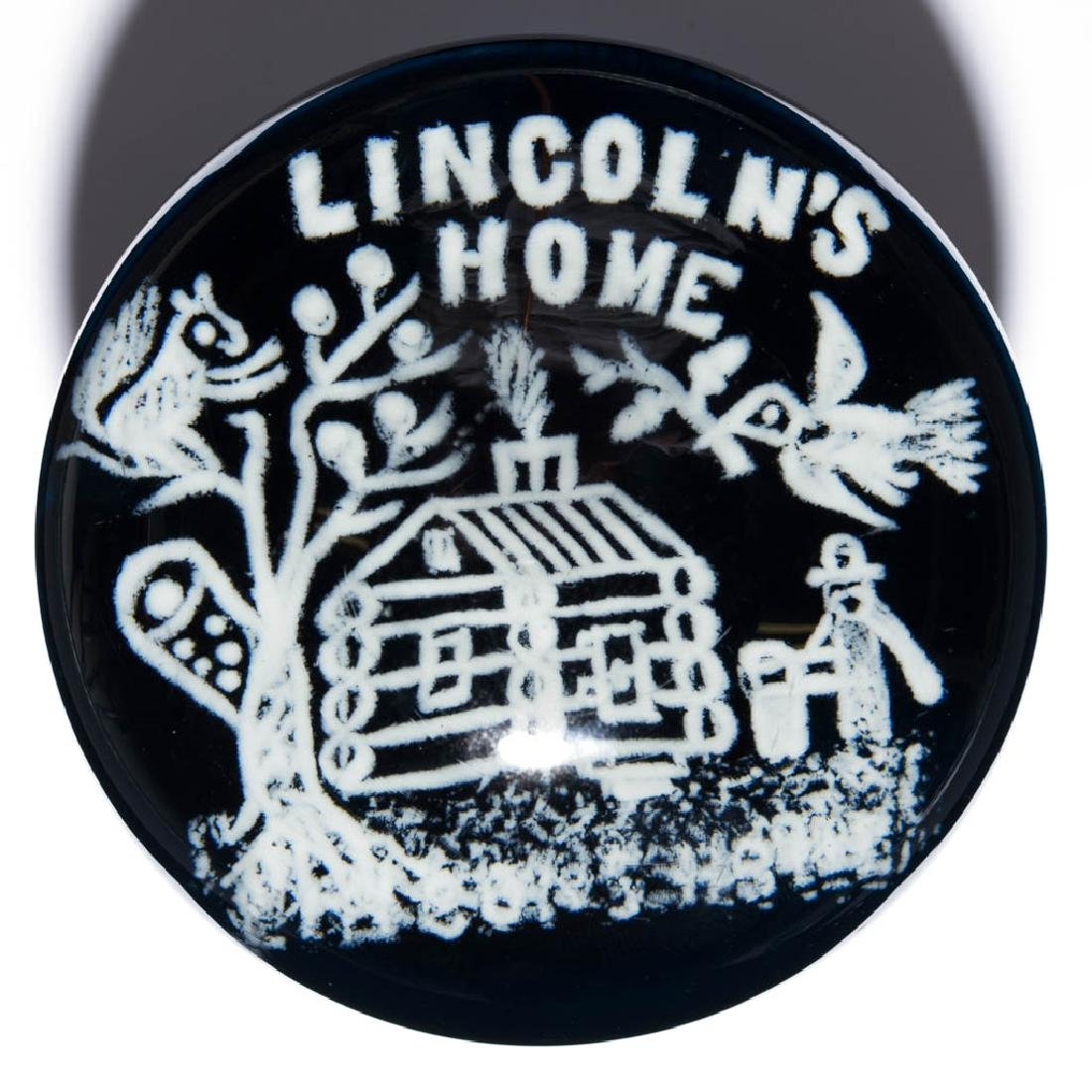 LINCOLN'S HOME FRIT PAPERWEIGHT