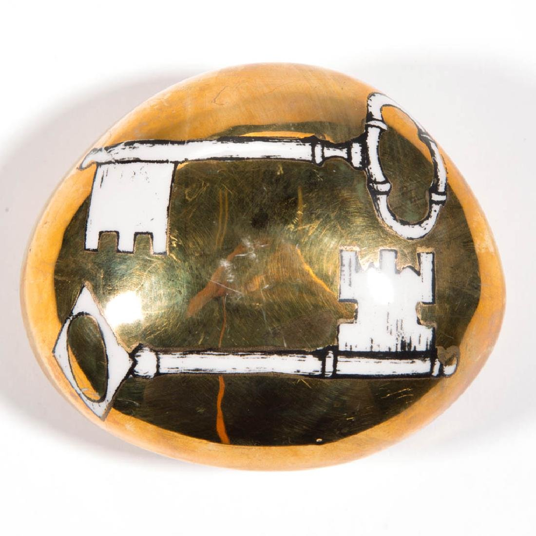 FORNASETTI MILANO GOLDEN PAPERWEIGHT