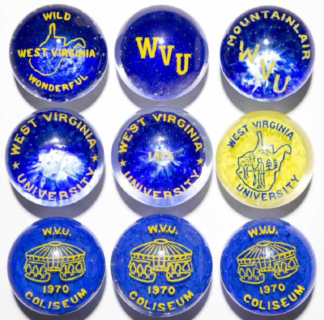 ASSORTED WEST VIRGINIA UNIVERSITY RELATED FRIT