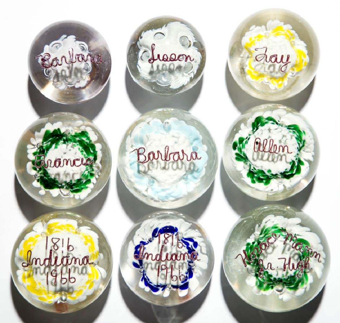 ASSORTED ZOE ZIMMERMAN PERSONALIZED PAPERWEIGHTS, LOT