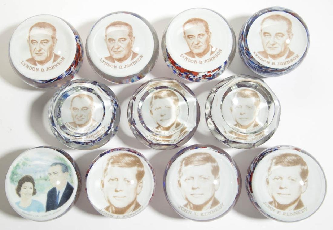 ASSORTED PRESIDENTIAL PAPERWEIGHTS, LOT OF 11