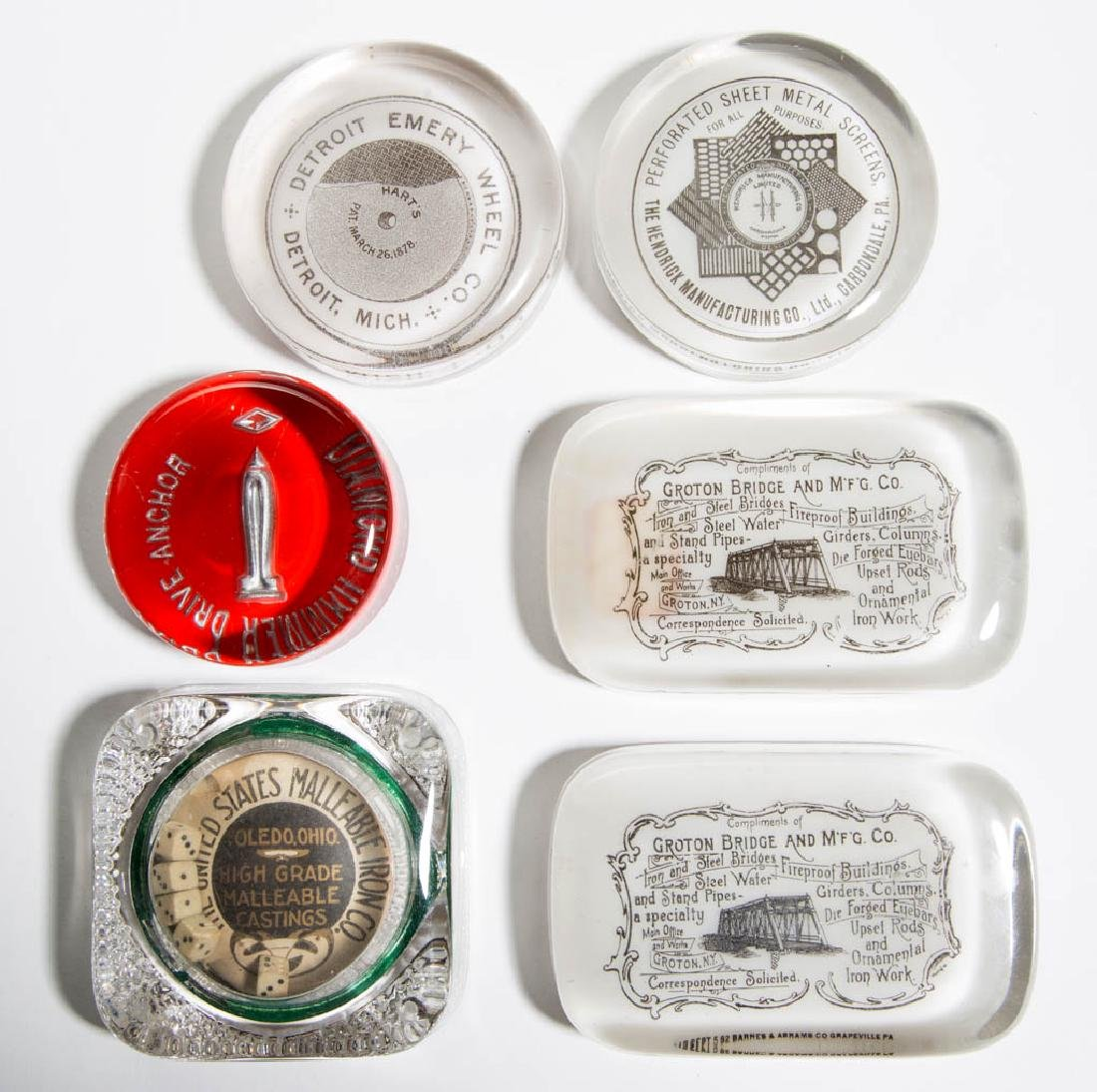ASSORTED MECHANICAL ADVERTISING PAPERWEIGHTS, LOT OF