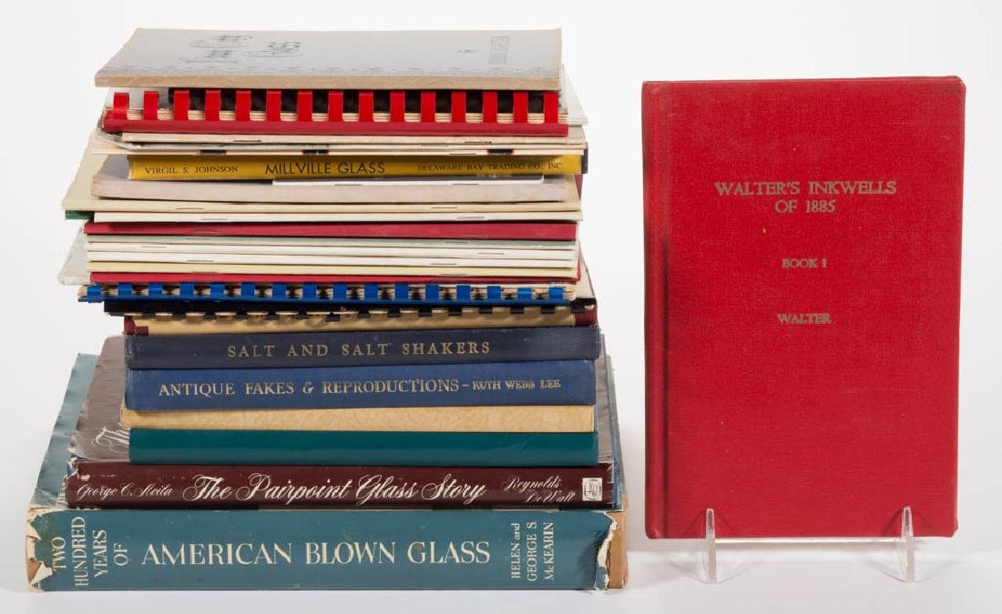 ASSORTED AMERICAN GLASS REFERENCE VOLUMES, LOT OF 30