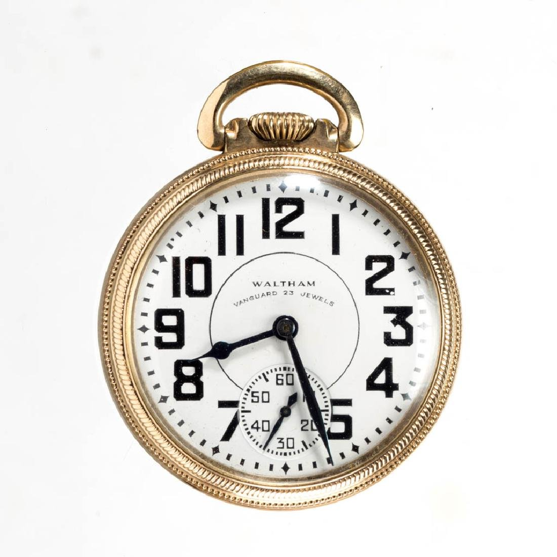 WALTHAM 23-JEWEL RAILROAD-GRADE POCKET WATCH