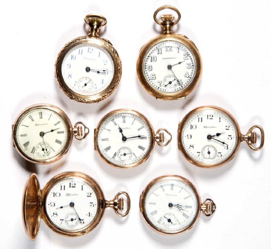 HAMPDEN LADY'S MODEL 3 AND MODEL 4 POCKET WATCHES, LOT