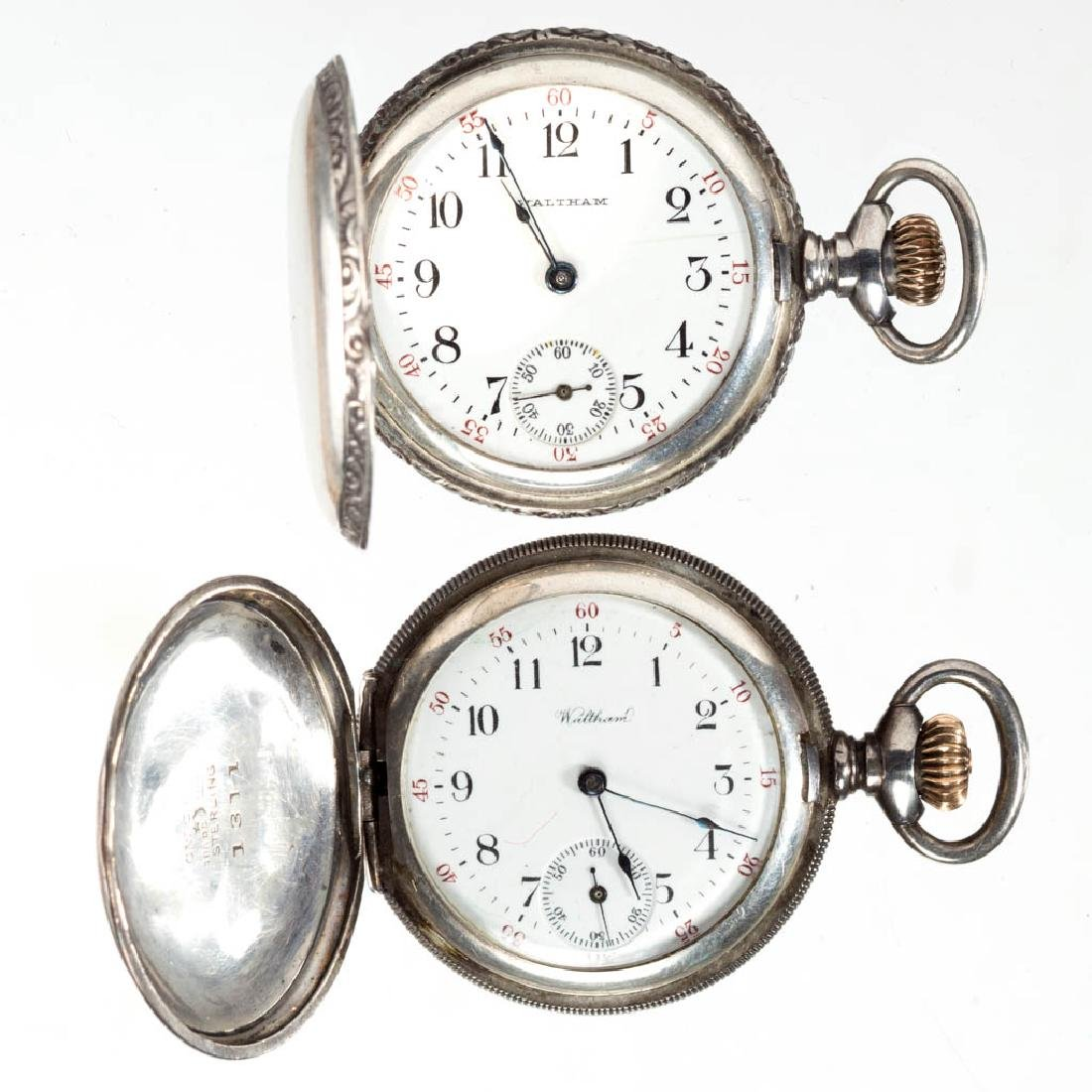 WALTHAM STERLING SILVER CASE MODEL 1891 POCKET WATCHES,