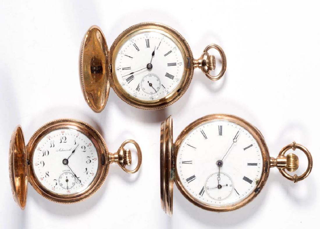 SWISS AND OTHER HUNTER CASE POCKET WATCHES, LOT OF