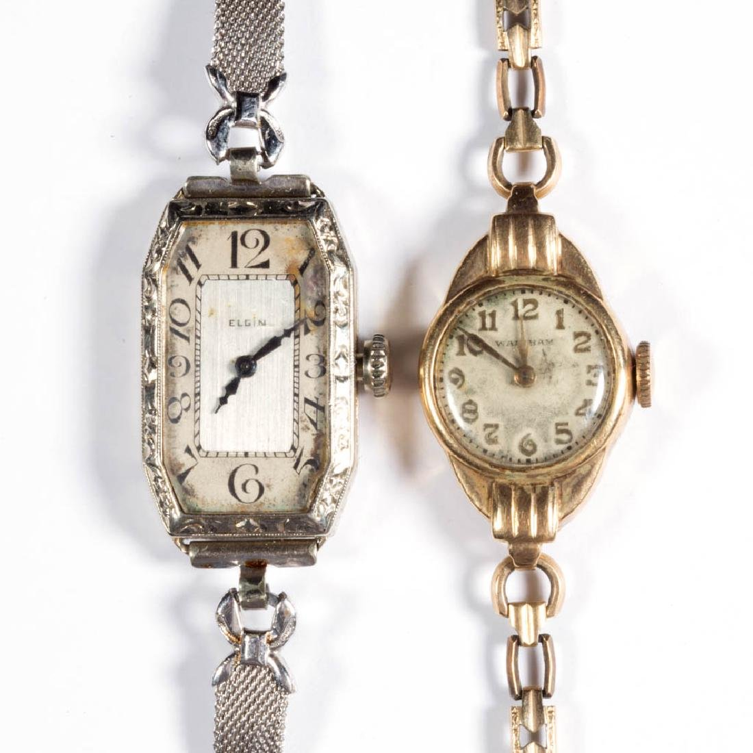 AMERICAN LADY'S GOLD CASE WRIST WATCHES, LOT OF TWO