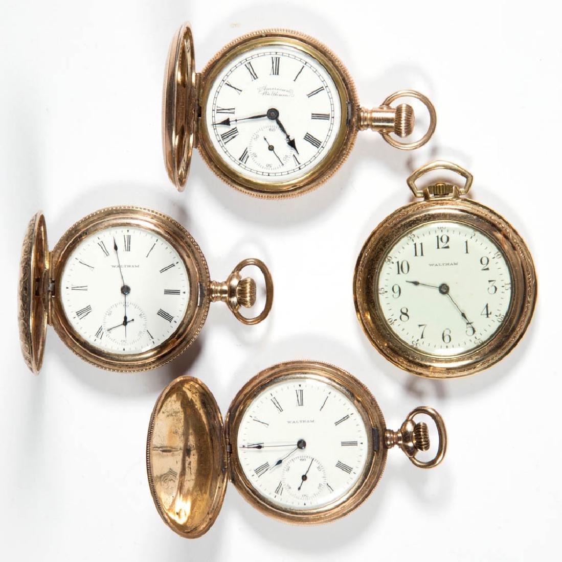 WALTHAM SEVEN-JEWEL MODEL 1890 POCKET WATCHES, LOT OF