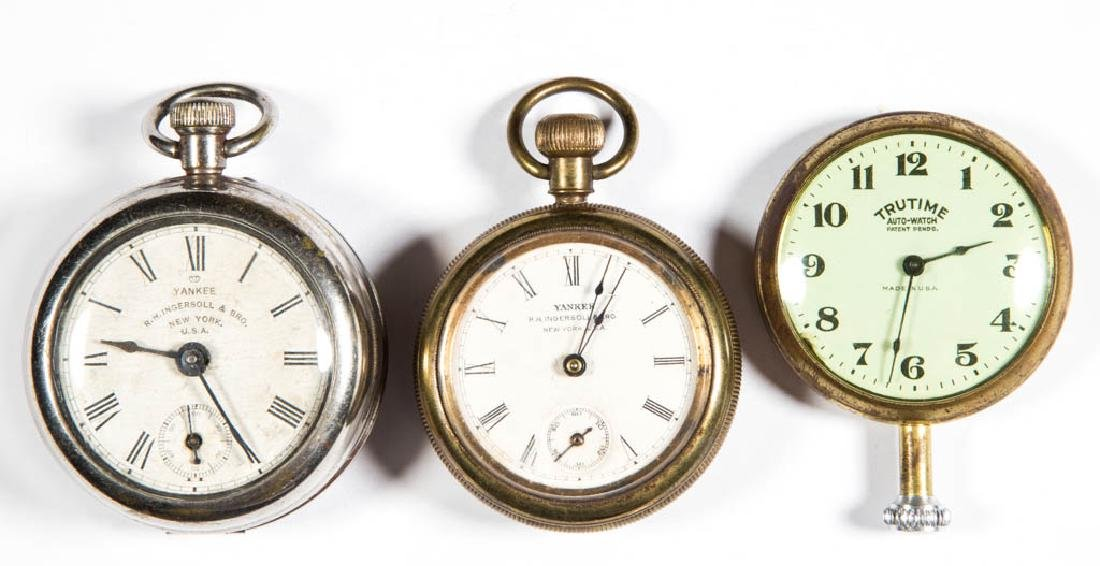 "R.H. INGERSOLL ""YANKEE"" POCKET WATCHES, LOT OF TWO"