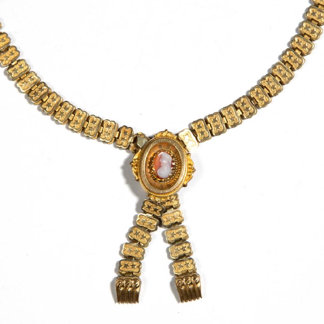 VICTORIAN GOLD-FILLED CAMEO NECKLACE