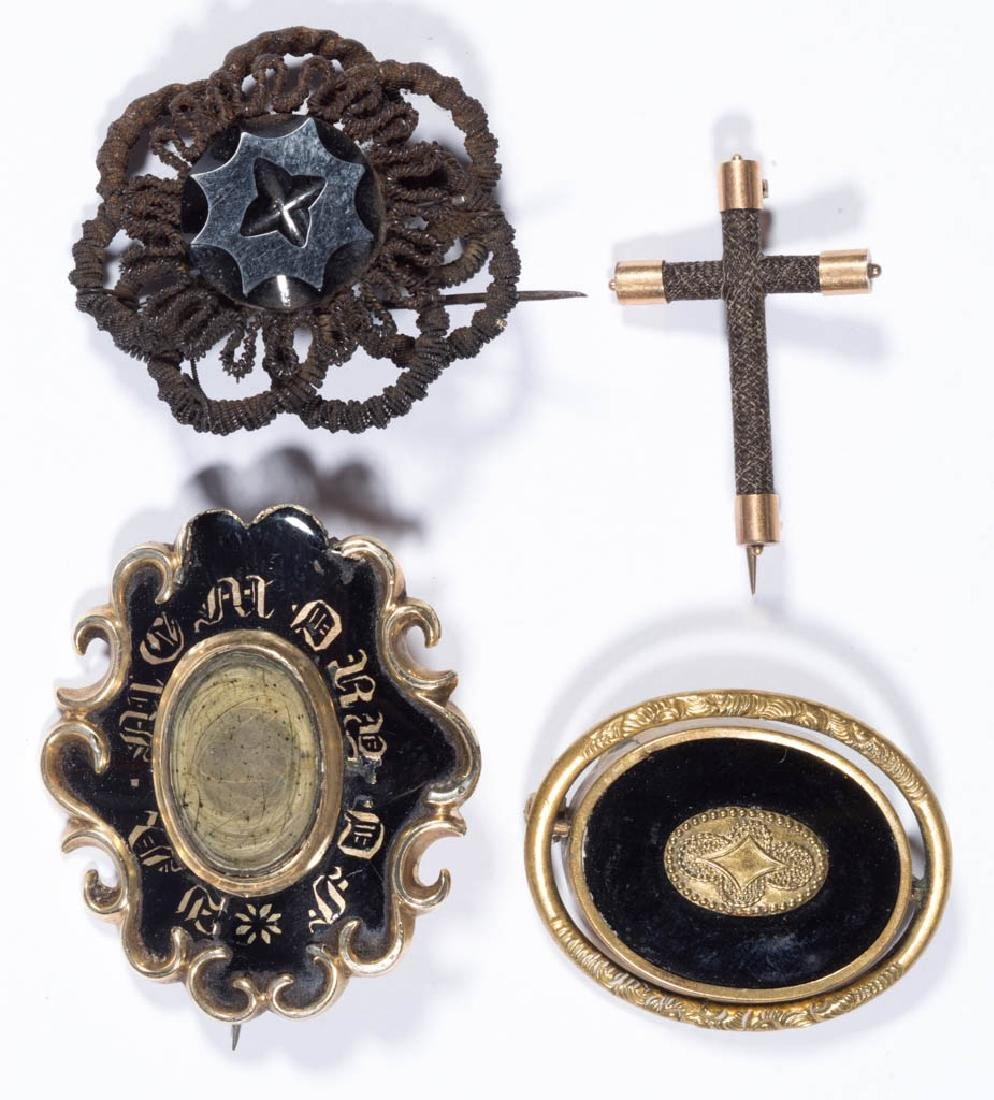 VICTORIAN / ANTIQUE MOURNING COSTUME JEWELRY