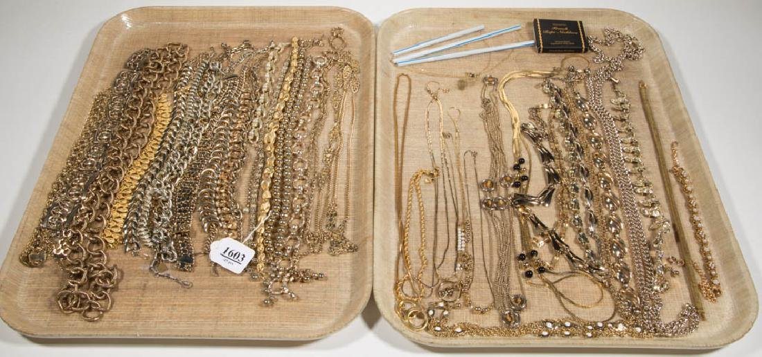ASSORTED VINTAGE COSTUME JEWELRY NECKLACES, LOT OF 45