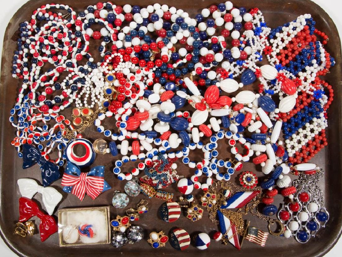VINTAGE PATRIOTIC COSTUME JEWELRY