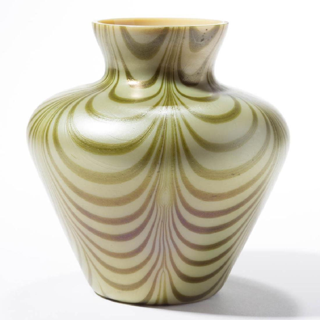 IMPERIAL FREE HAND LOOP ART GLASS VASE - 2