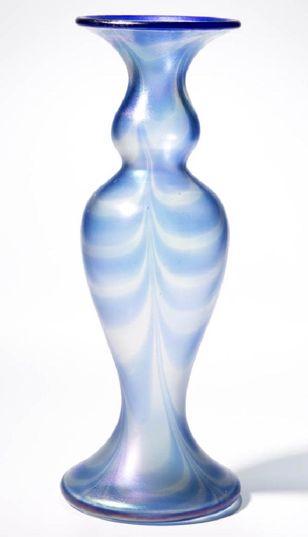 IMPERIAL FREE HAND LOOP ART GLASS VASE