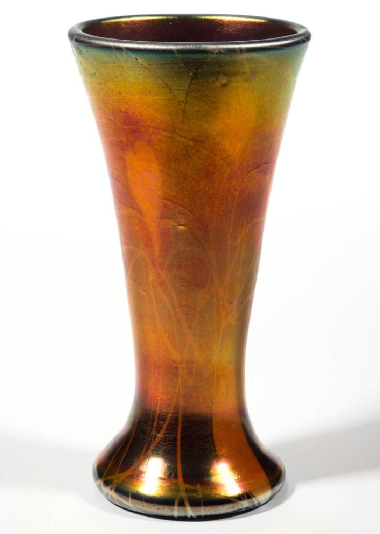 IMPERIAL FREE HAND HEART AND VINE ART GLASS VASE - 2