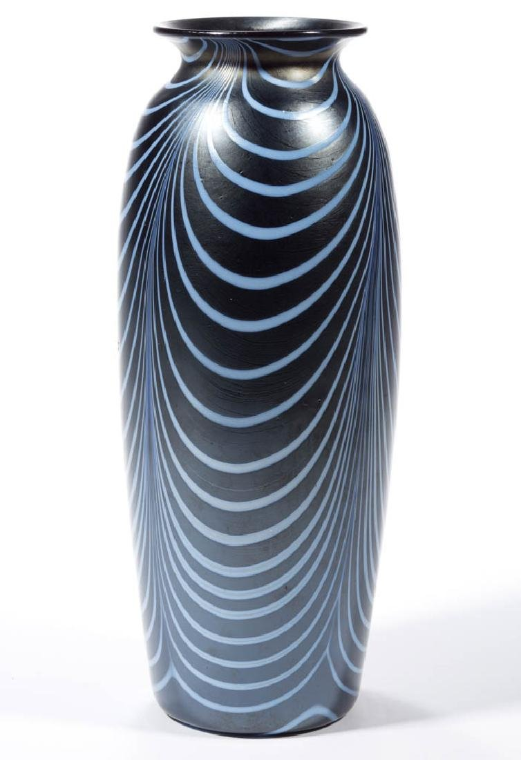 IMPERIAL LEAD LUSTRE LOOP ART GLASS VASE