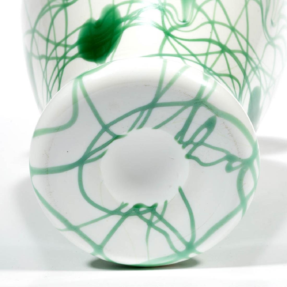 IMPERIAL FREE HAND HEART AND VINE ART GLASS VASE - 3