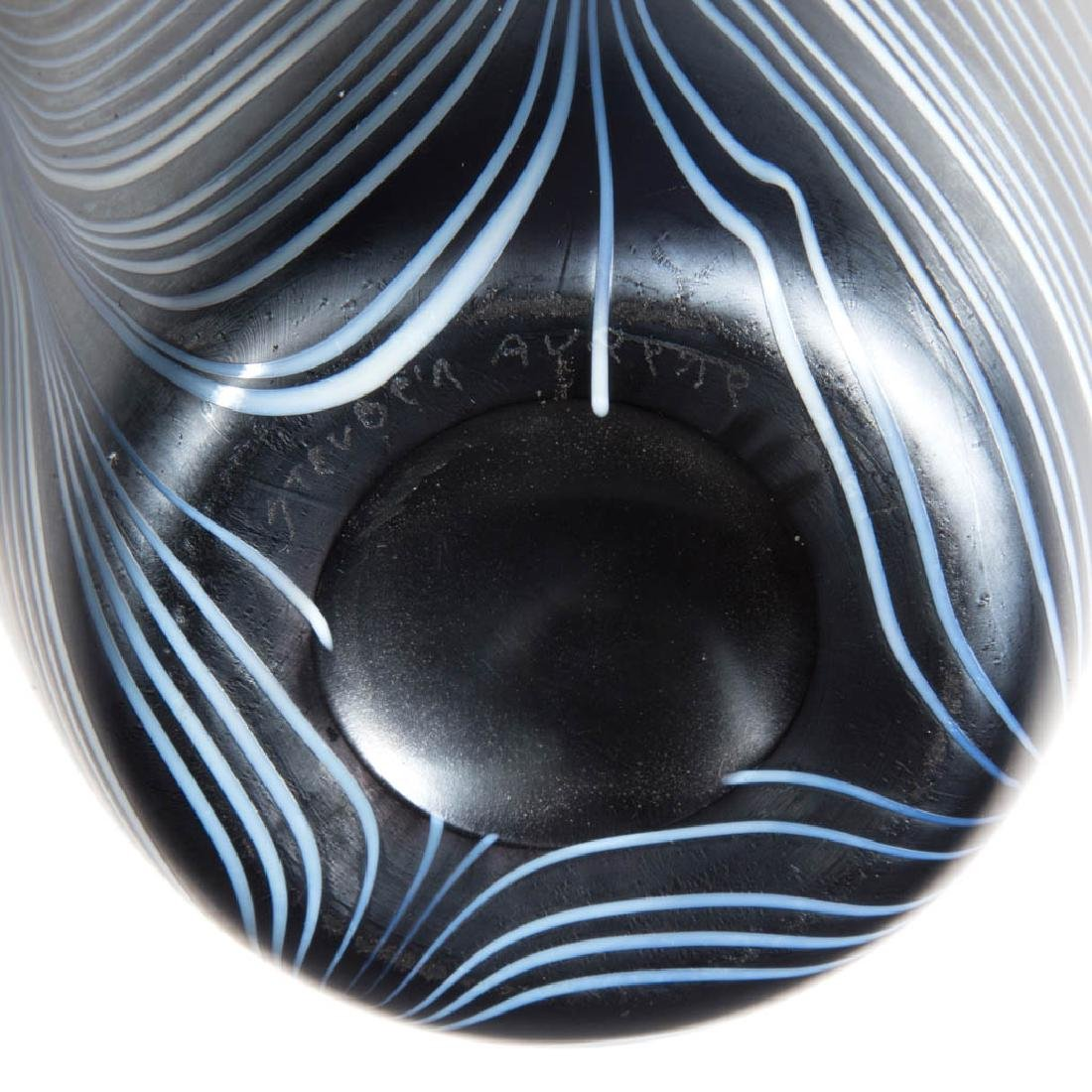 IMPERIAL LEAD LUSTRE LOOP ART GLASS VASE - 3